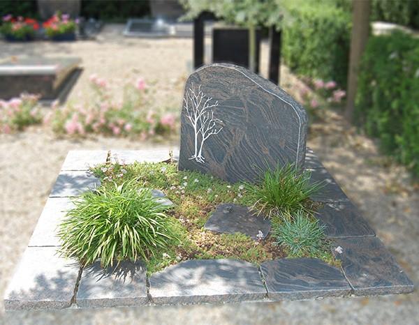 Granieten delen gekapt dubbel monument