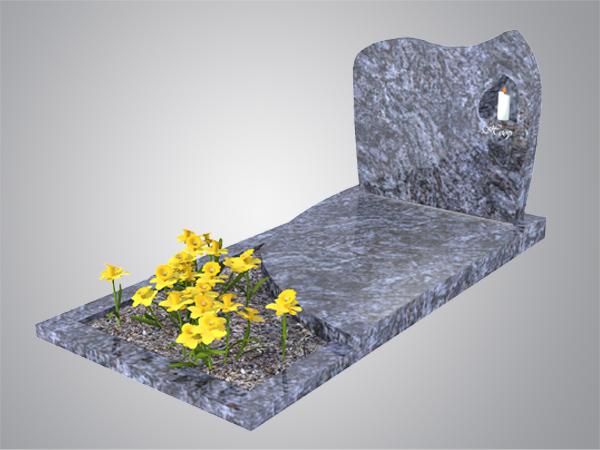 Staande steen met nisje orion graniet