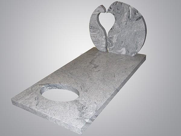Steen uit 2 delen hart vorm eigen ontwerp