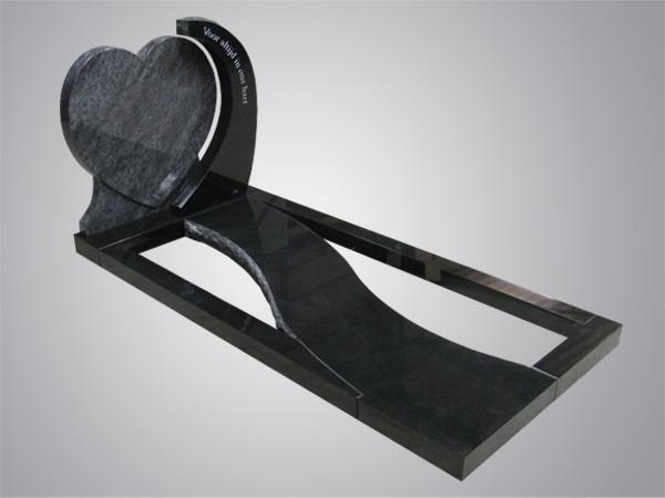 Zwart graniet orion omarmt hart